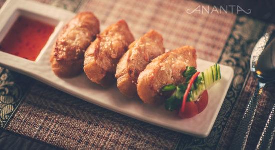 Prawn and Chicken on Toast