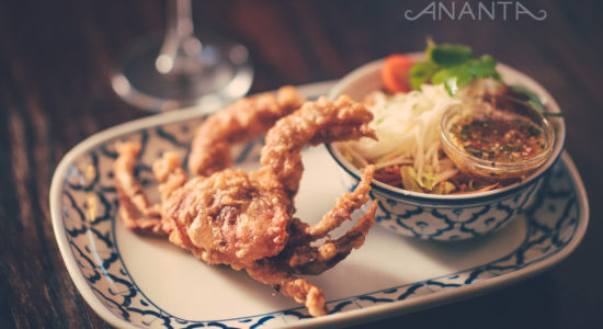 Softshell crab with sour mango salad